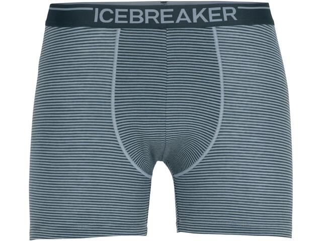 Icebreaker Anatomica Bokserki Mężczyźni, gravel